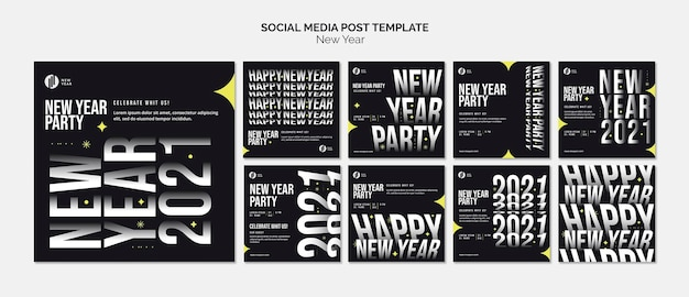 Instagram posts collection for new year party