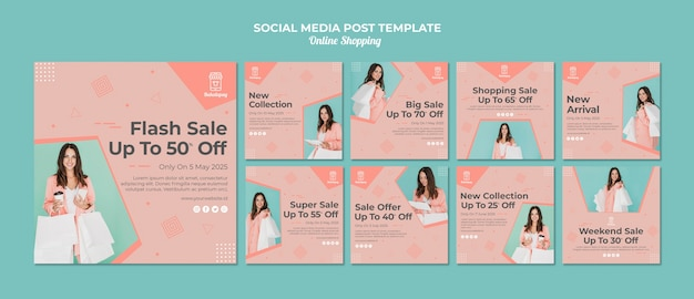 Instagram posts collection for online shopping with sale