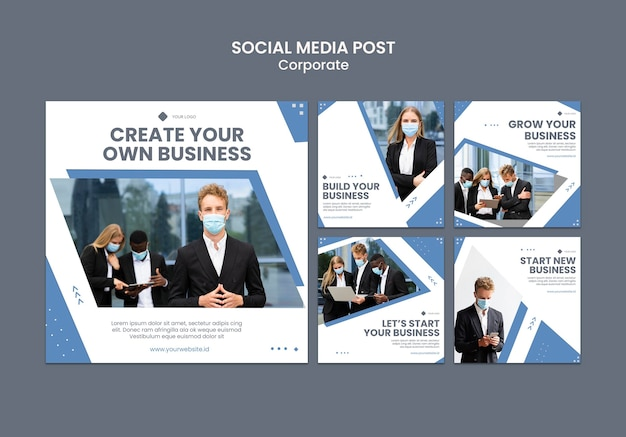 Instagram posts collection for professional business