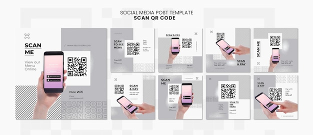 Instagram posts collection for qr code scanning with smartphone