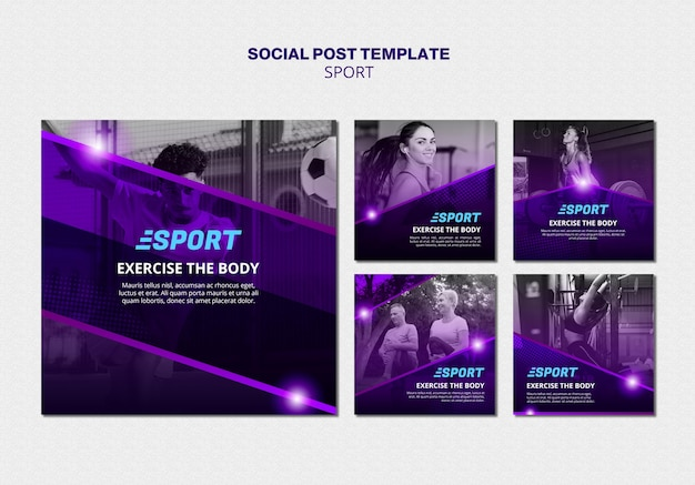 Instagram posts collection for sporting activities