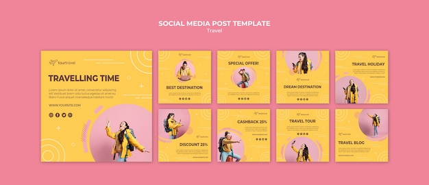 Instagram posts collection for traveling