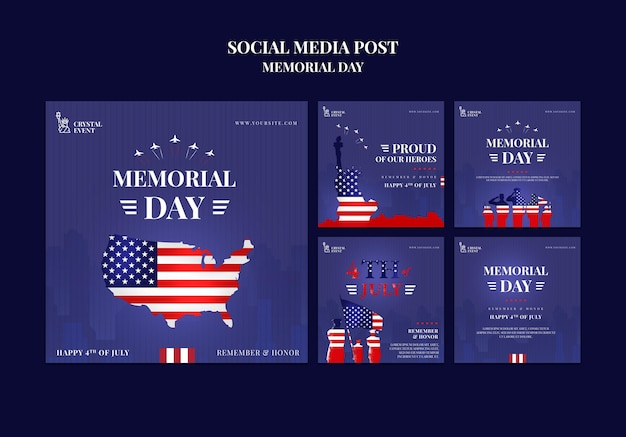 Instagram posts collection for usa memorial day