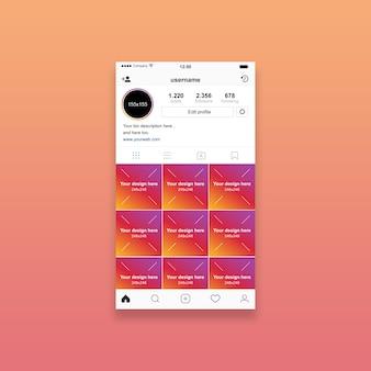 Instagram profile mockup