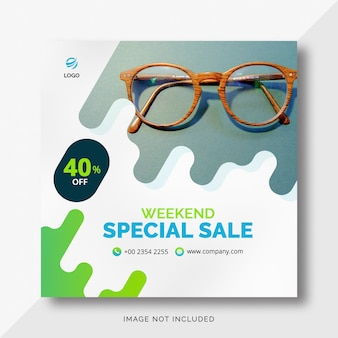 Instagram rounded shapes sales banner