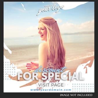 엽서 템플릿-instagram 판매 패션