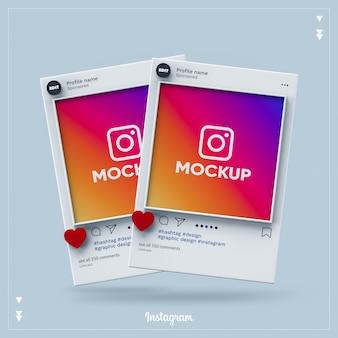 Instagramソーシャルメディア3d