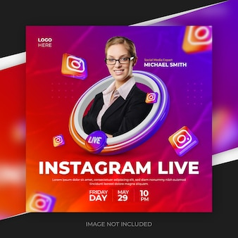 Instagramソーシャルメディアビジネスマーケティング投稿バナーテンプレート