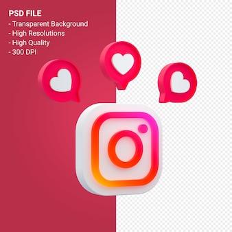 Рендеринг значков в социальных сетях instagram