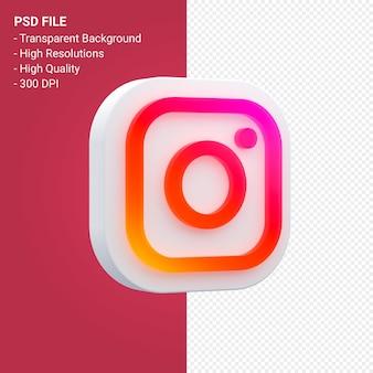 Instagram social media logo in 3d rendering
