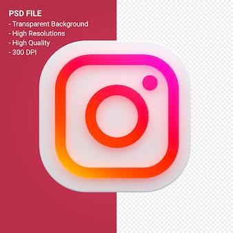 Логотип социальных сетей instagram в 3d-рендеринге