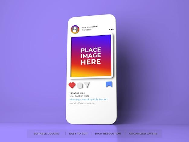 Instagram 소셜 미디어 목업