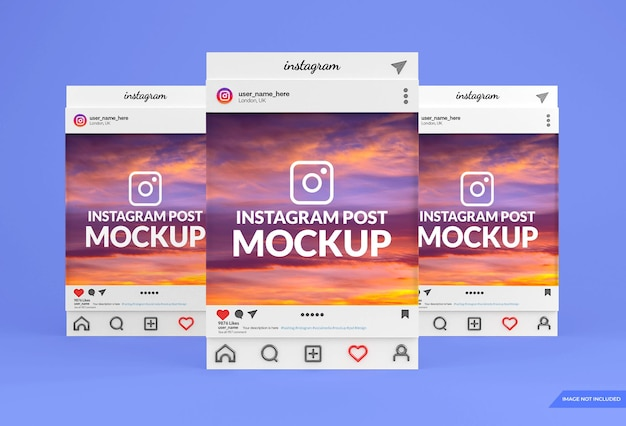 Instagram 소셜 미디어 게시물 모형 디자인