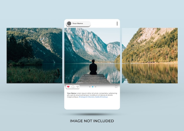 Instagram social media preview style mockup