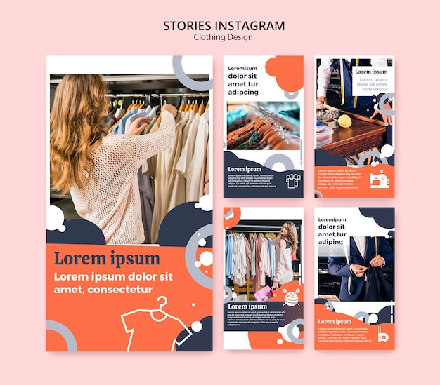 Instagram stories for clothing store