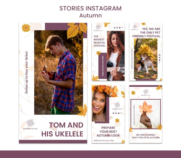 Instagram stories collection for autumn concert