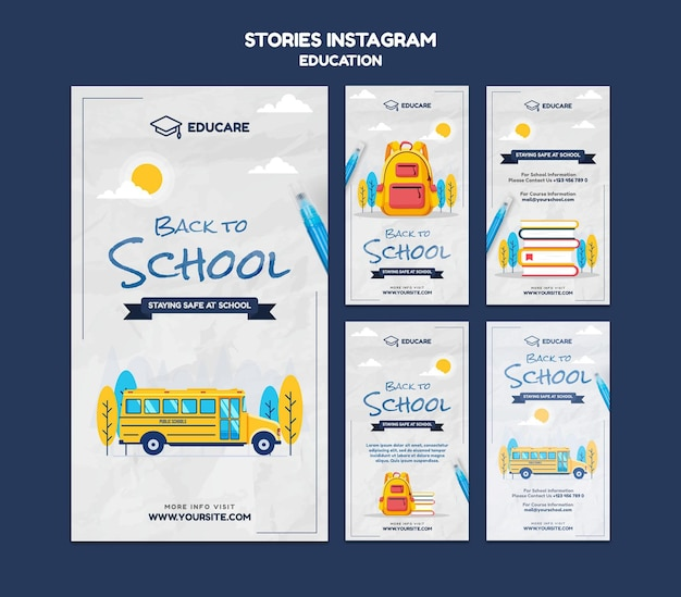 Instagram stories collection for back to school