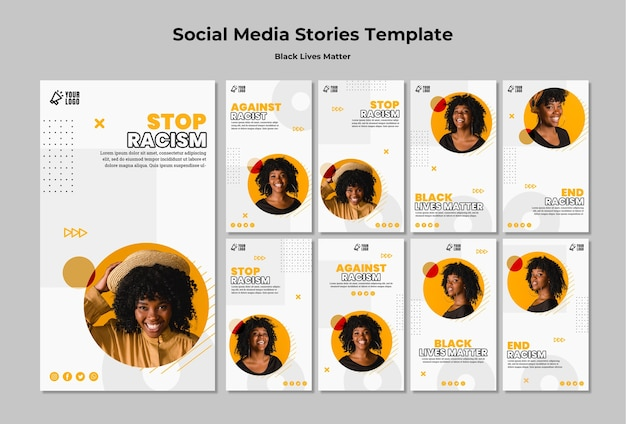 Instagram stories collection for black lives matter