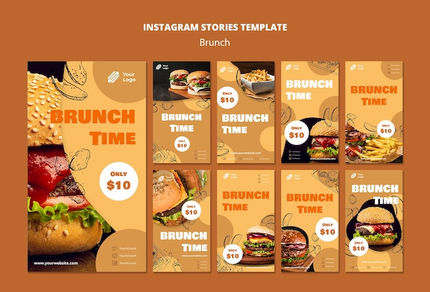 Instagram stories collection for brunch