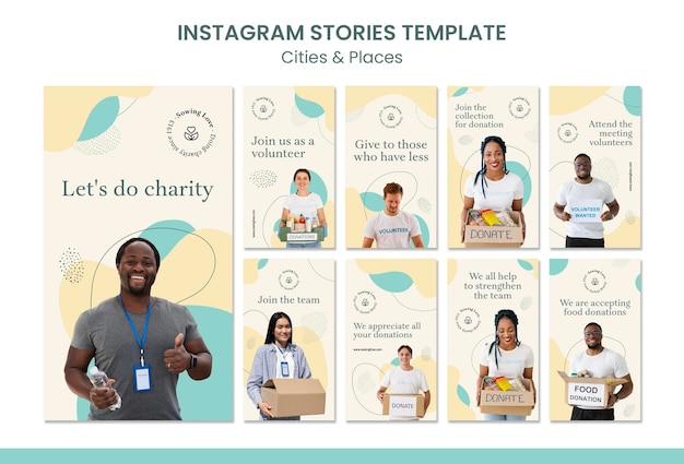 Instagram stories collection for charity and donation