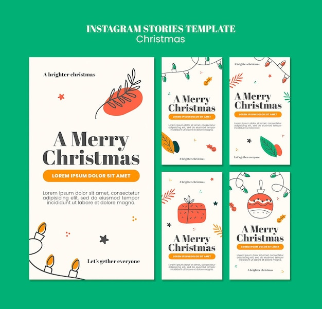 Instagram stories collection for christmas