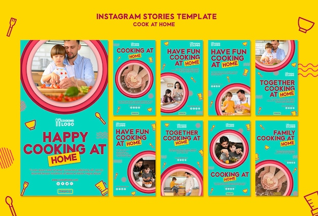 Instagram stories collection for cooking at home