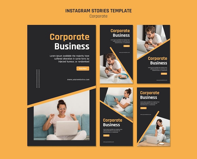 Instagram stories collection for corporate business