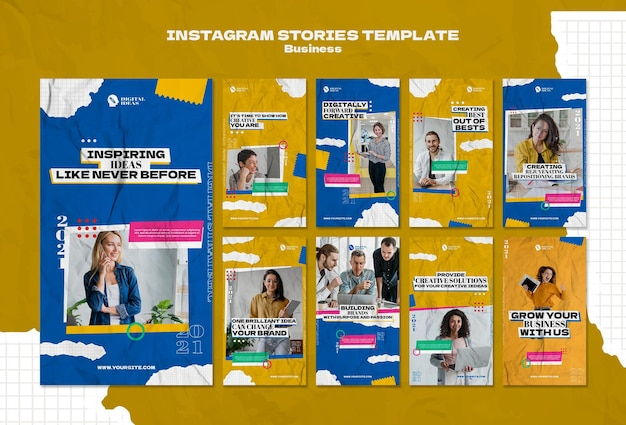 Instagram stories collection for creative business solutions