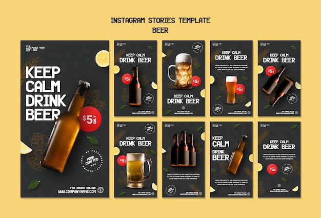 Instagram stories collection for drinking beer