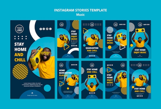 Instagram stories collection for enjoying music during quarantine