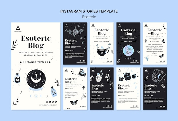 Instagram stories collection for esoteric blog