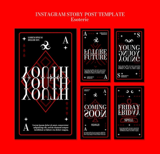 Instagram stories collection for esoteric mysticism