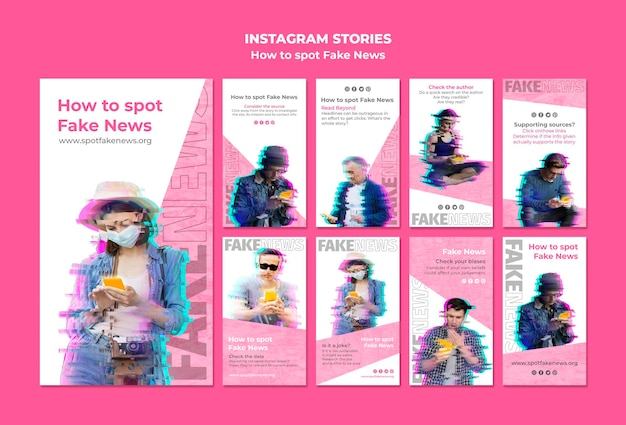 Instagram stories collection for fake news spotting