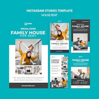 Instagram stories collection for family house renting
