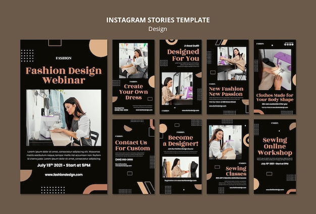 Instagram stories collection for fashion designer