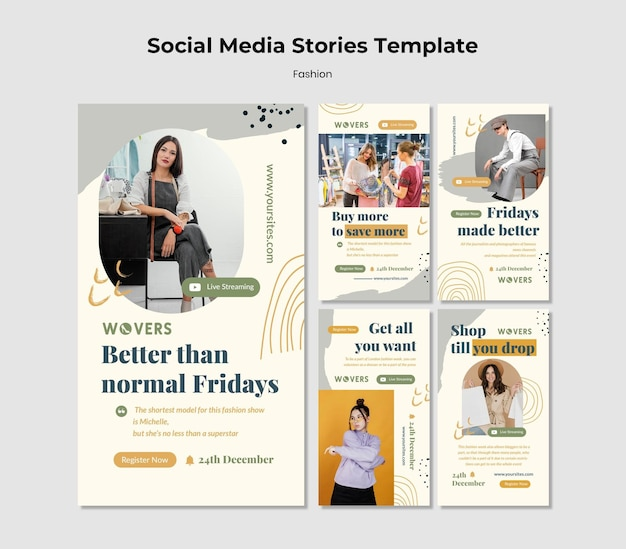 Instagram stories collection for fashion sales