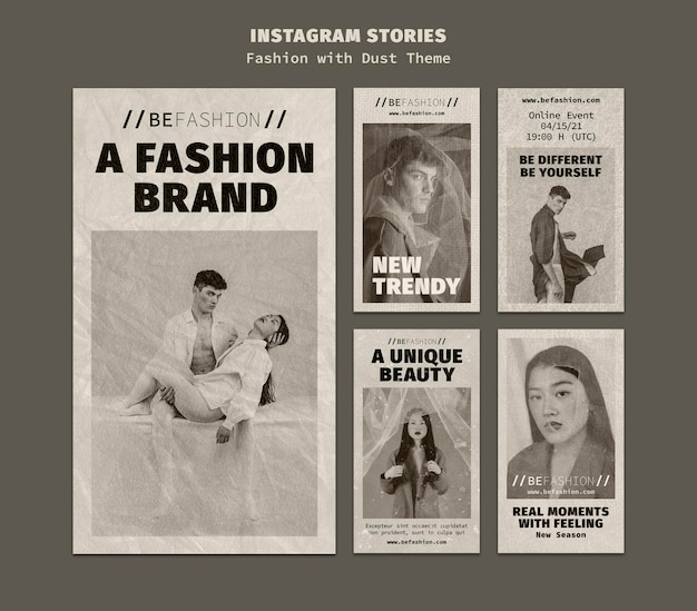 Instagram stories collection for fashion store