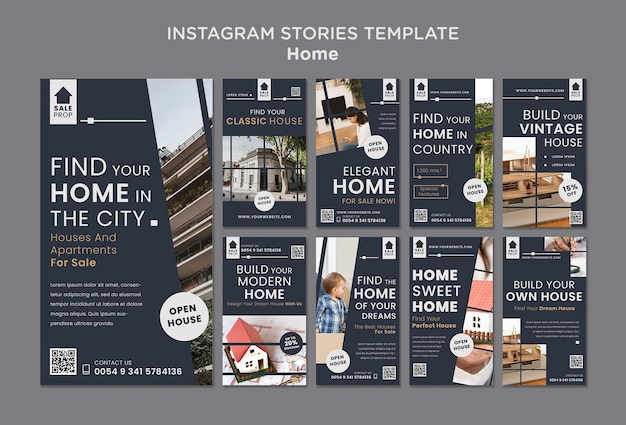 Instagram stories collection for finding the perfect home