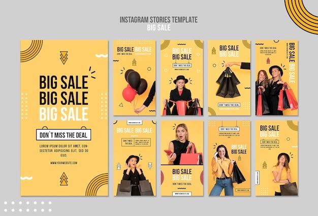 큰 판매를위한 instagram 이야기 모음
