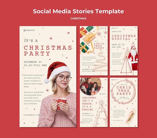 크리스마스 판매를위한 instagram 이야기 모음