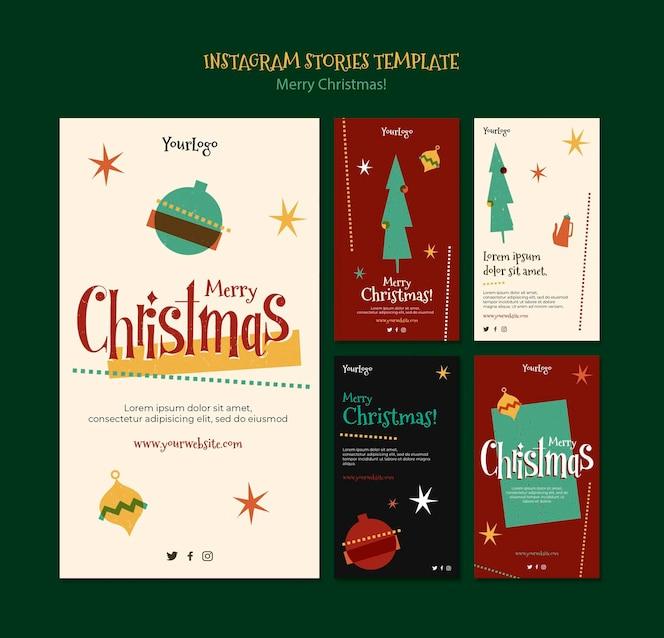 크리스마스를위한 Instagram 이야기 모음
