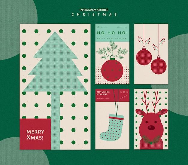 クリスマスのためのinstagramストーリーコレクション