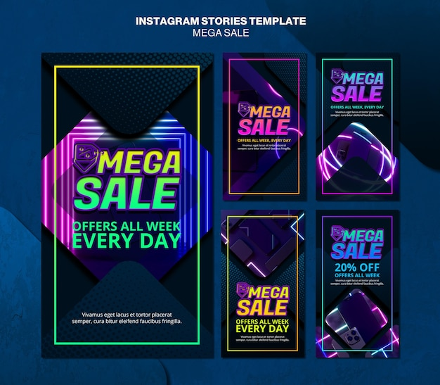 メガセールのinstagramストーリーコレクション