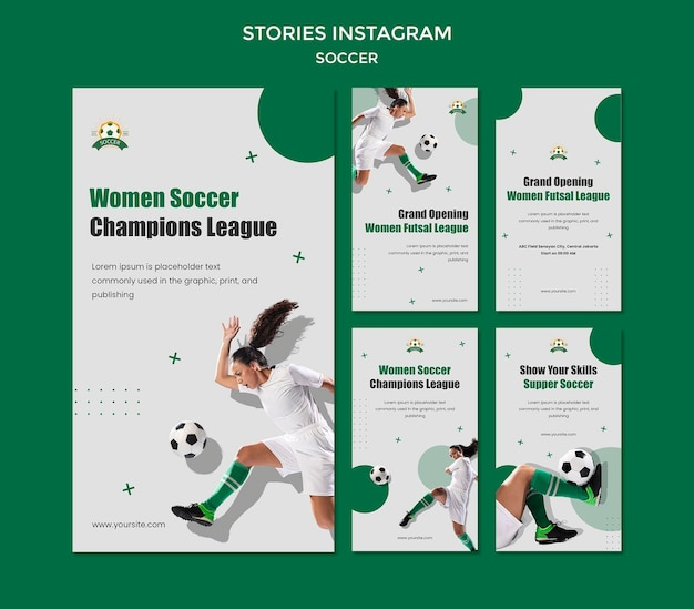 여자 축구 리그를위한 instagram 이야기 모음