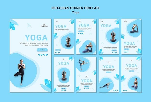 Коллекция историй из инстаграм для упражнений йоги