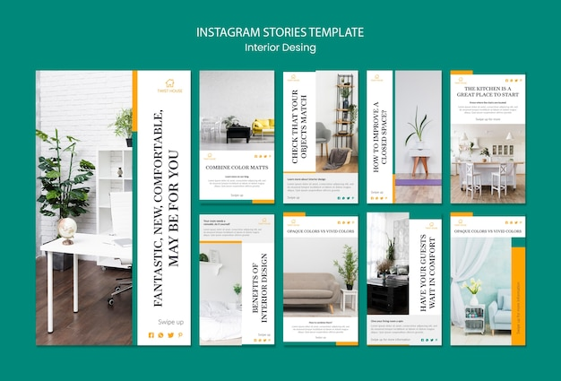 Instagram stories collection for interior design