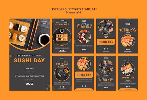 Instagram stories collection for international sushi day