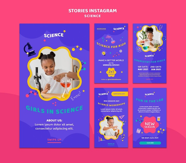 Instagram stories collection for kids science