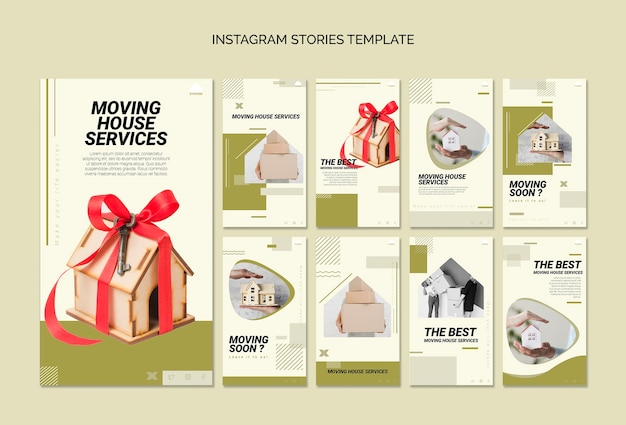 Instagram stories collection for moving house services
