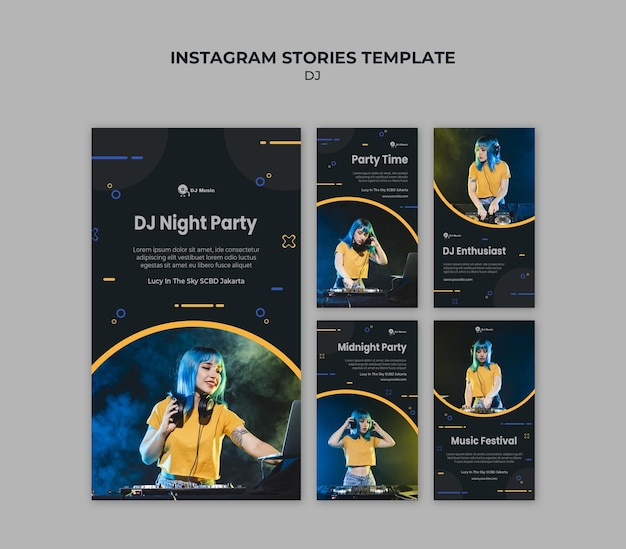 Instagram stories collection for music festival